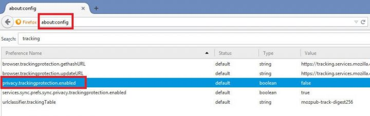 How to enable Firefox Tracking Protection