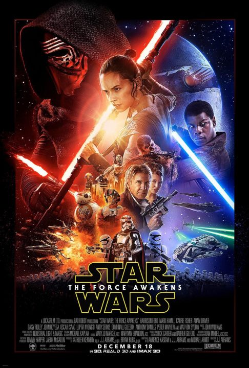 Star Wars Force Awakens official movie poster