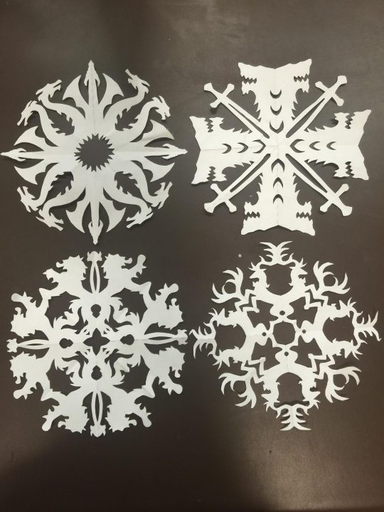 game of thrones snowflakes