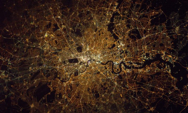 Photo of London from the International Space Station - Tim Peake