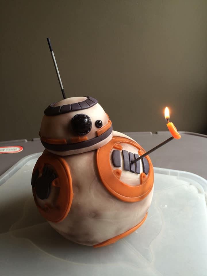bb8 star wars birthday cake