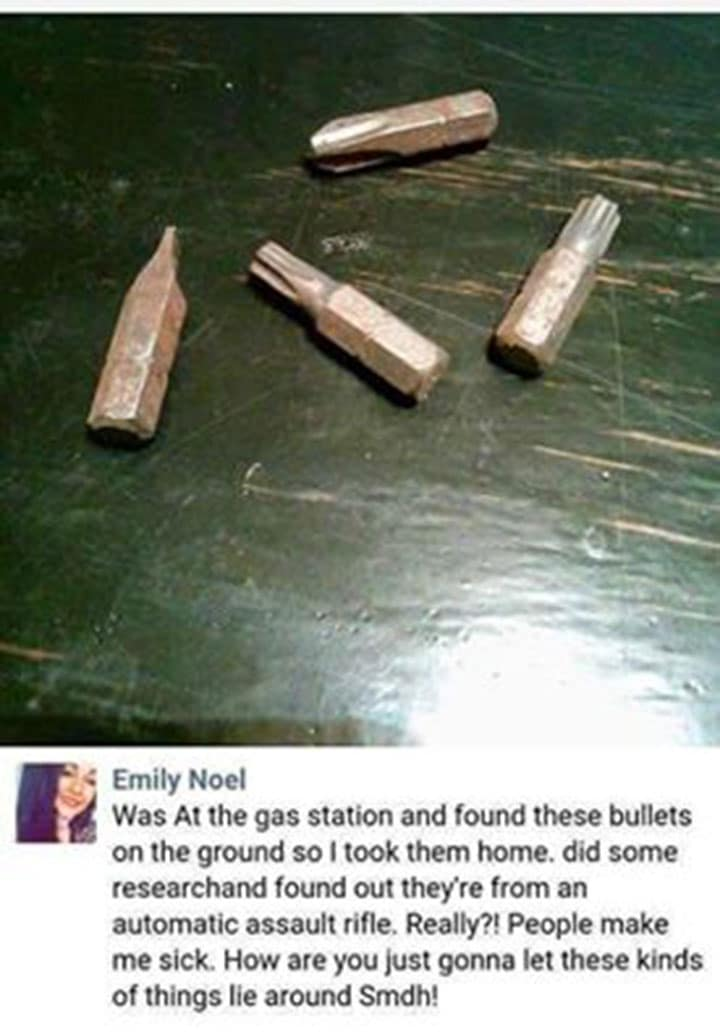 bullets on facebook