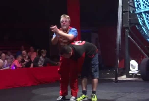 benji the clown knocks out man