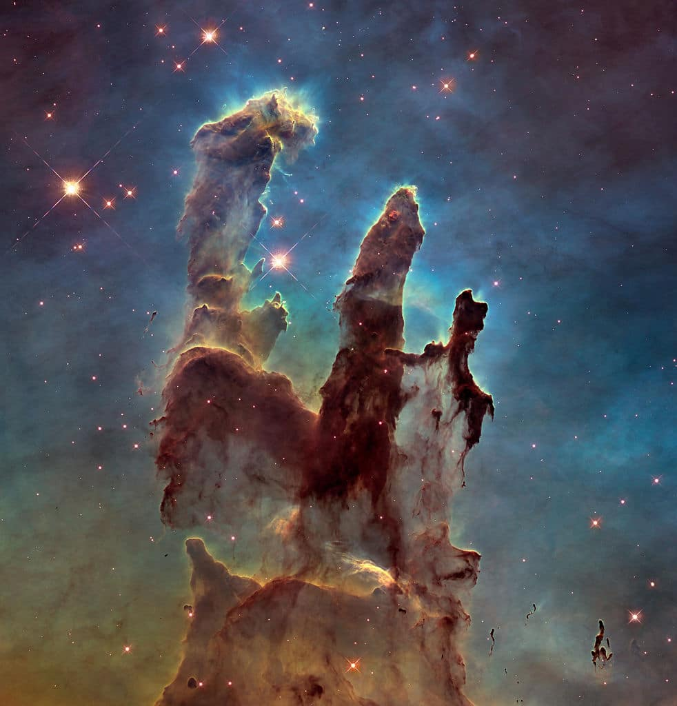 The 'Pillars of Creation' as seen from Hubble telescope