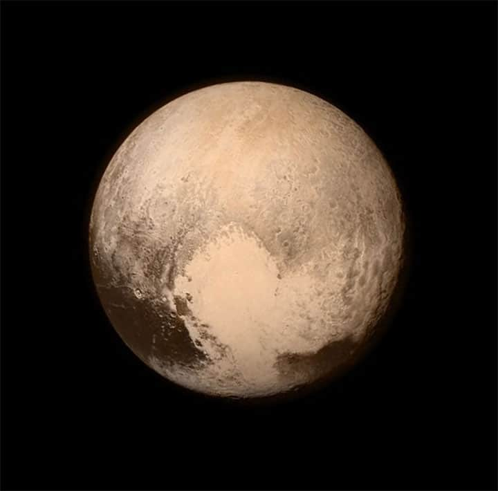 Pluto photo from New Horizons spacecraft – July 2015