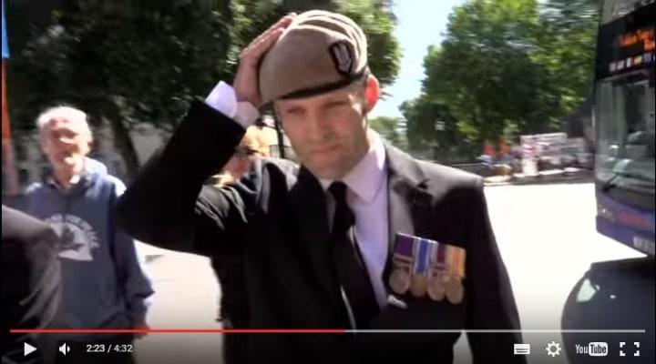 Ex SAS Soldier returns medals