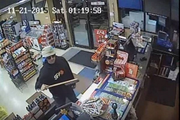 Man successfully robs two shops armed only with snow brush