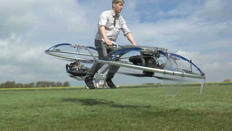 Plumber invents hoverbike in his shed