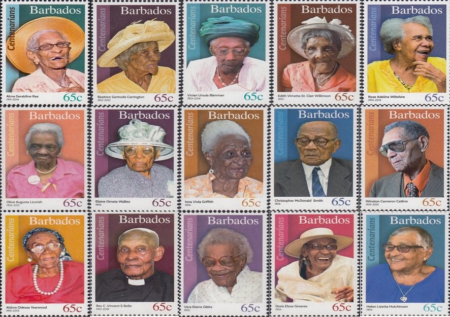 In Barbados, if you reach 100 they make a stamp in your honour