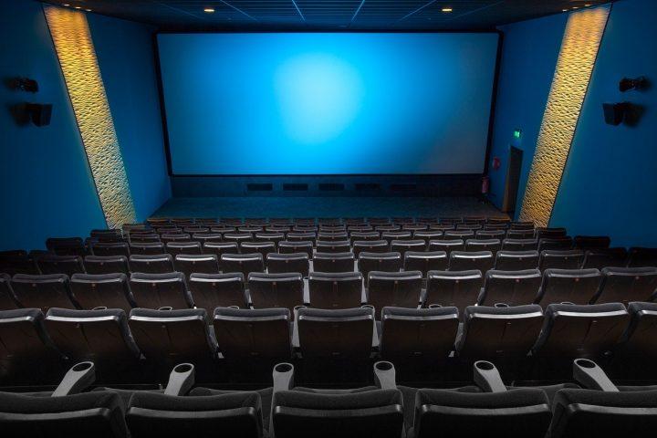 Movie screen in cinema